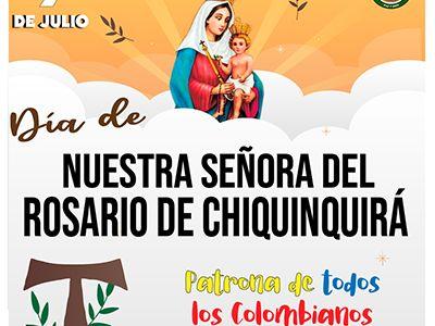DÍA DE NUESTRA SEÑORA DEL ROSARIO DE CHIQUINQUIRÁ