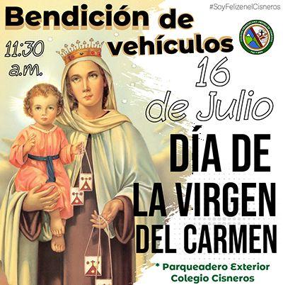 CELEBRACIÓN DÍA DE LA VIRGEN DEL CARMEN: BENDICIÓN DE  VEHÍCULOS
