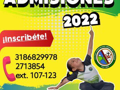 INSTRUCTIVO GENERAL DEL PROCESO DE ADMISIÓN 2022