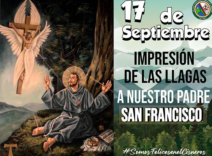 17 DE SEPTIEMBE: IMPRESIÓN LLAGAS A  NUESTRO PADRE SAN FRANCISCO