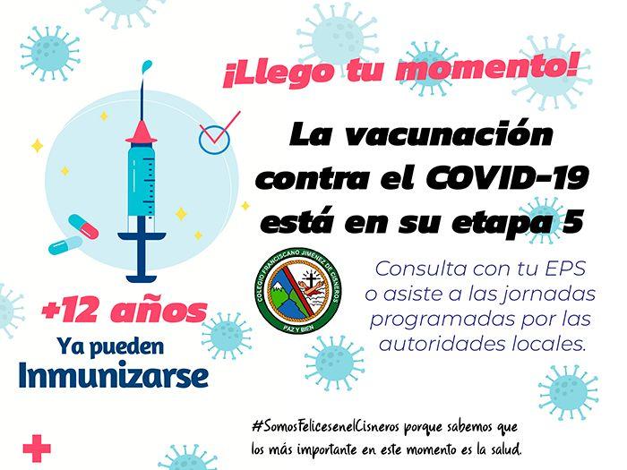 COVID-19: MENORES DE EDAD YA PUEDEN VACUNARSE